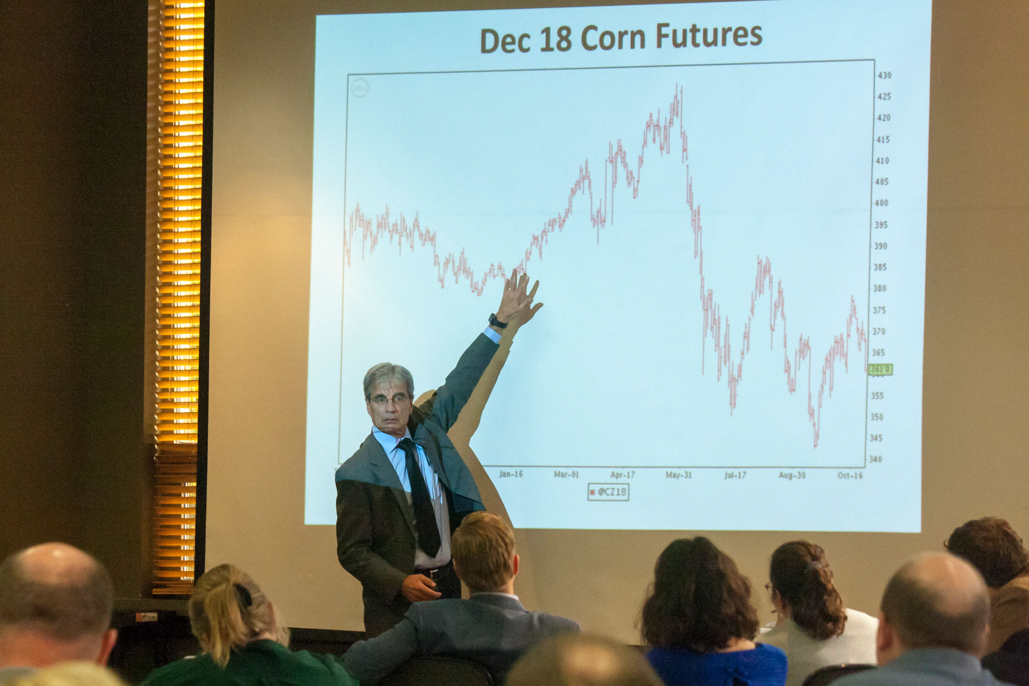 Jim Hilker at the Michigan Agricultural Credit Conference