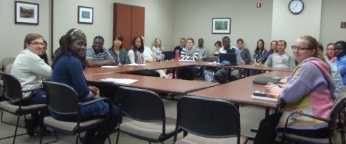 Photo of AFRE seminar by Dr. Nick Minot