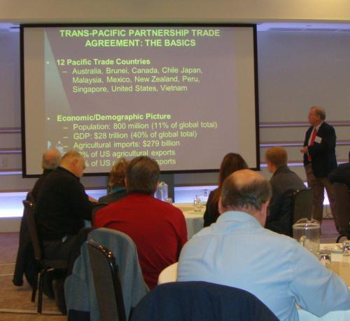 Photo of Ag Credit Conference Presentation by David Schweikhardt