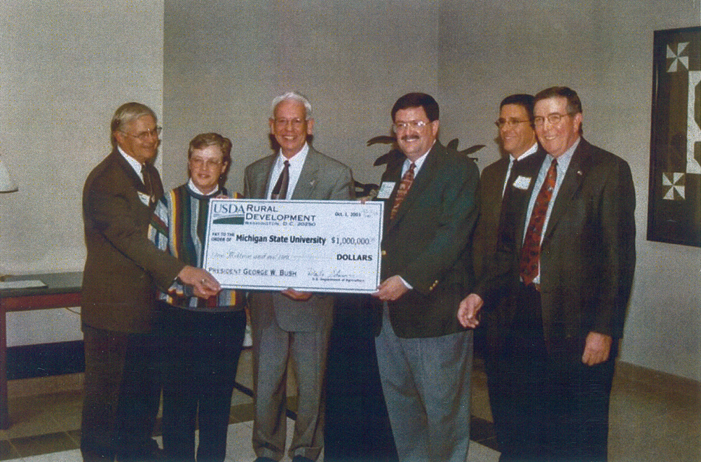 Peterson receiving funding for the MSU Product Center