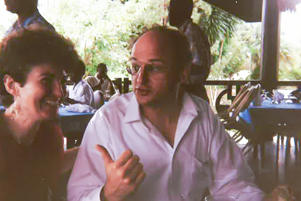Thomas Reardon on a research trip in Abidjan, in 1993