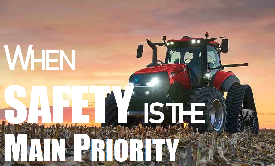 Graphic on tractor safety