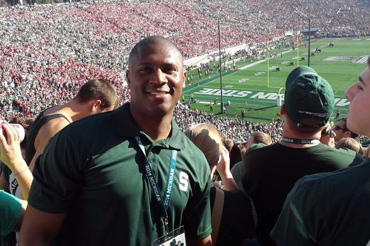 Melvin Mance at the 2014 MSU Rose Bowl football game.