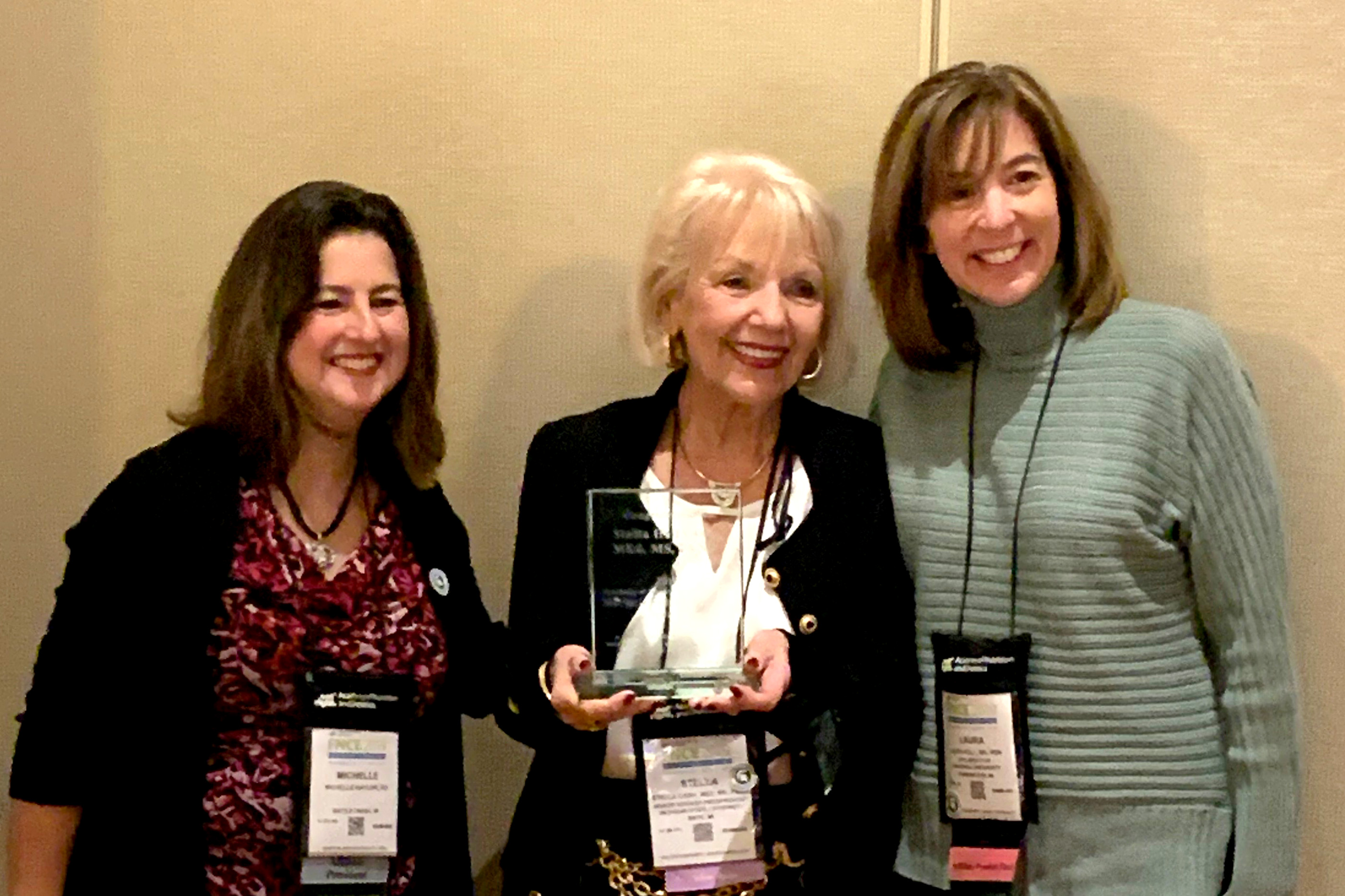 Stella H. Cash received the Academy of Nutrition and Dietetics 2019 Marjorie Hulsizer Copher Award