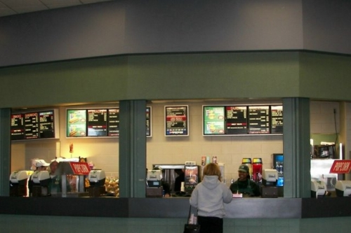 concession stand at Pavilion