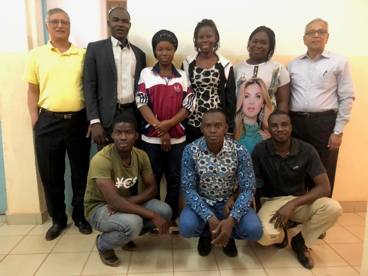 UNB students involved in the ASMC Burkina Faso Project