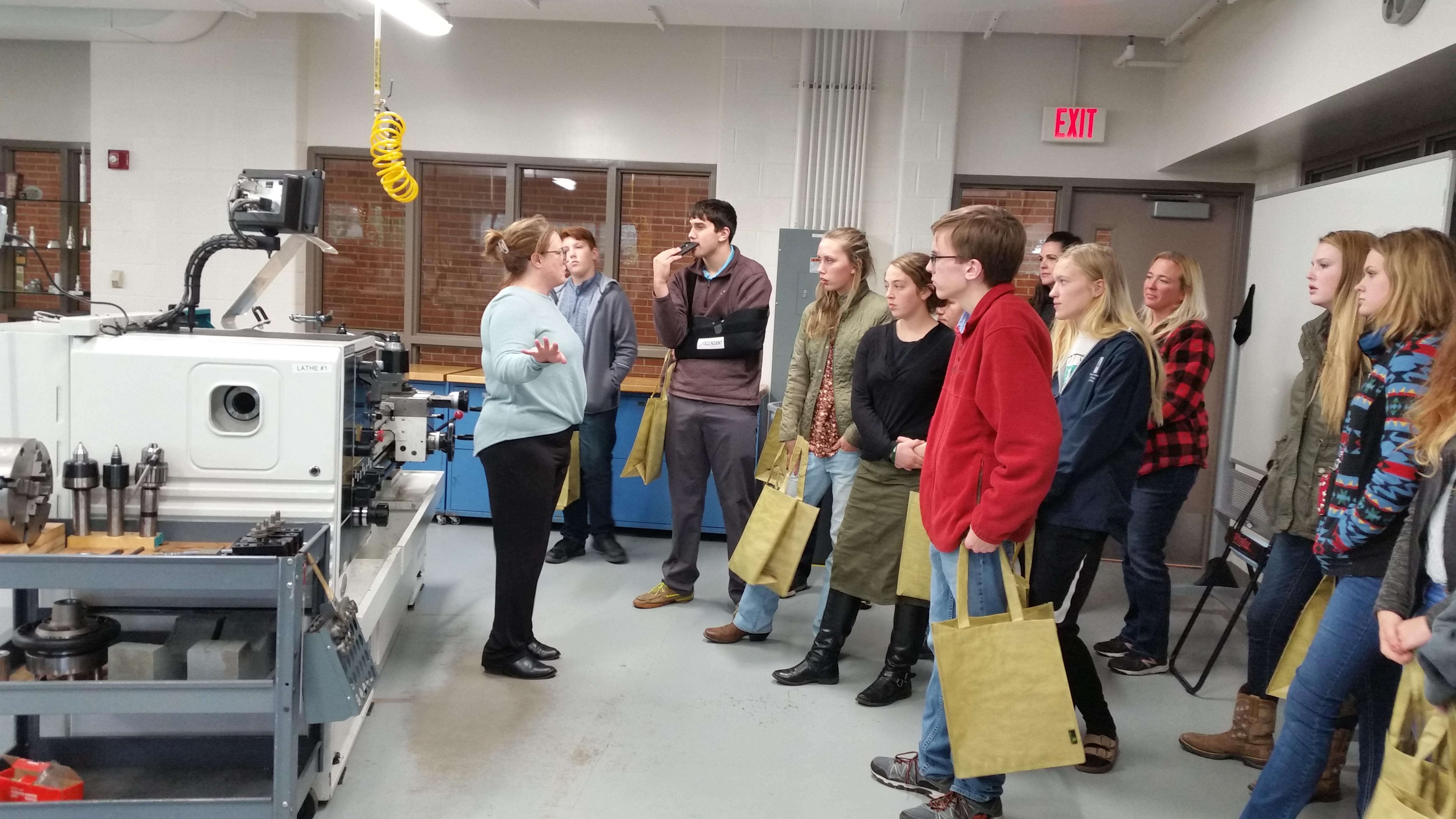 Touring skills trades labs at Delta College