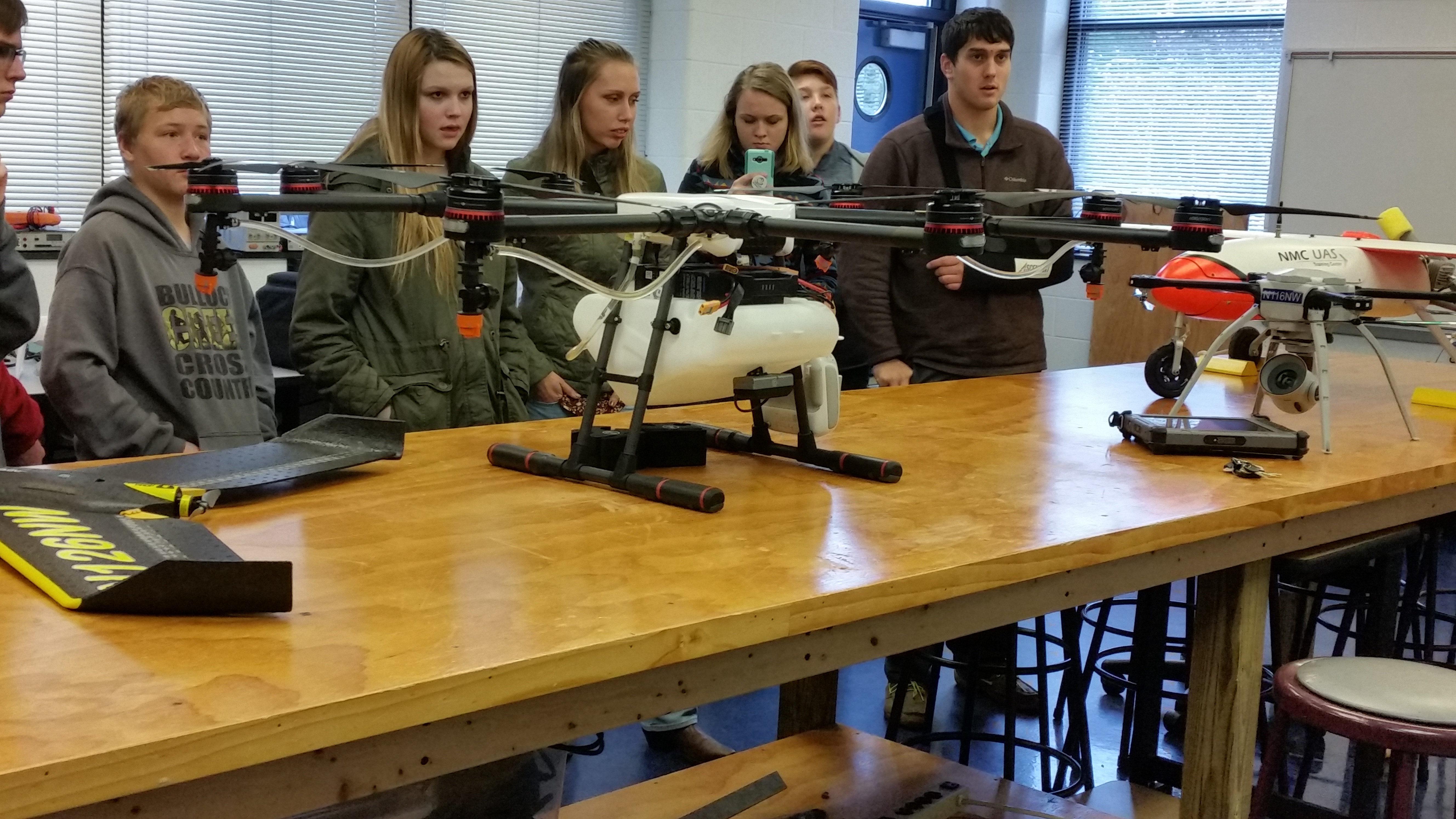 Viewing drone laboratory at Northwestern Michigan College