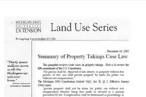 Summary of Property Takings Case Law