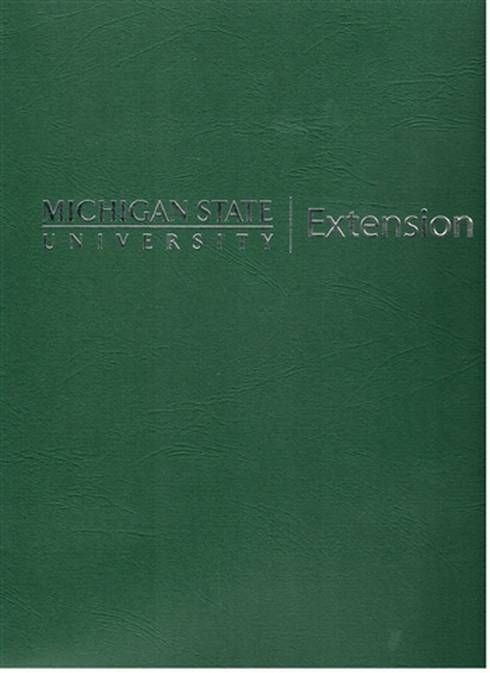 Photo of the cover of MSU Extension folder.
