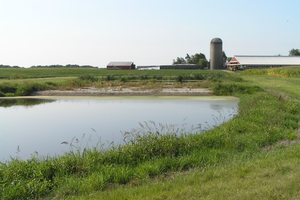 Three-stage constructed wetland for sub-irrigation of 'gray water' at Baker Lad's Farm.
