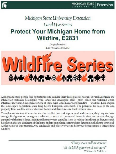 Protect Your Michigan Home from Wildfire cover