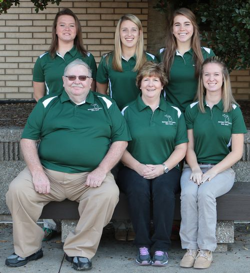 Michigan 4-H dairy quiz bowl team. From top left: Jessica Nash, Miriah Dershem, Madeline Meyer. From bottom left: Rodney Pennock (coach), Luann Learner (coach), Carmen Hicks. Photo: North American 4-H Invitational Dairy Quiz Bowl Contest.