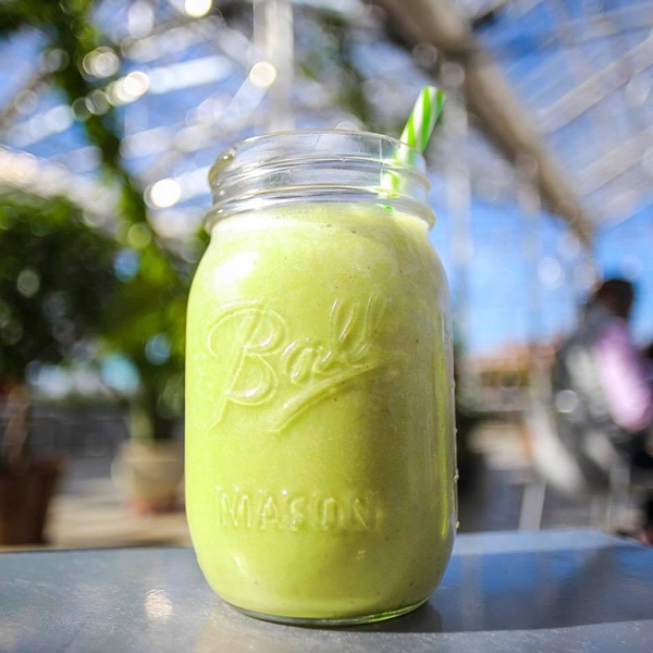 A delicious matcha smoothie from Malamiah Juice Bar. | Photo by Jermale Eddie, co-founder of Malamiah Juice Bar, LLC