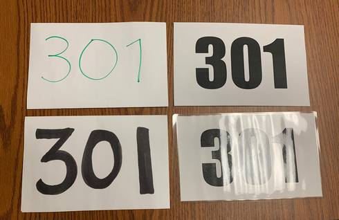 Different types of back numbers