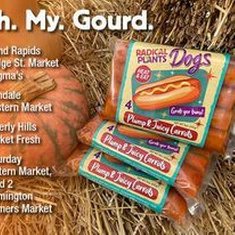 packs of plant based hot dogs
