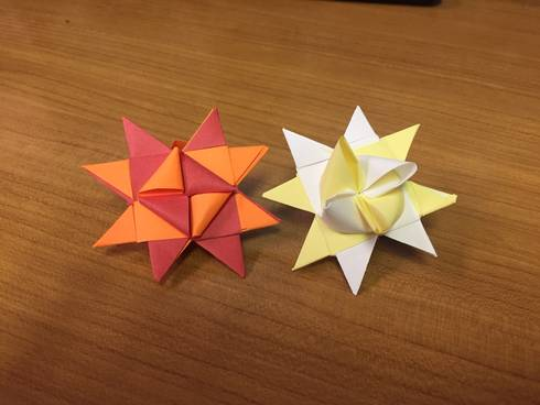 Two different versions of Froebel Stars