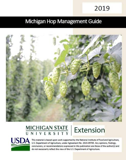 Cover of Michigan Hop management guide