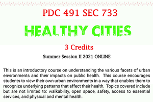 PDC 491: Special Topics: Healthy Cities