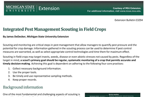 Integrated Pest Management Scouting in Field Crops (E3294)