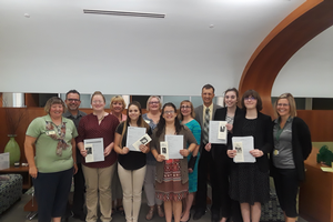 2018 4-H Exploration Days participants from the Interview-Ready Resumes & Portfolios session pictured with their instructors and interviewers.