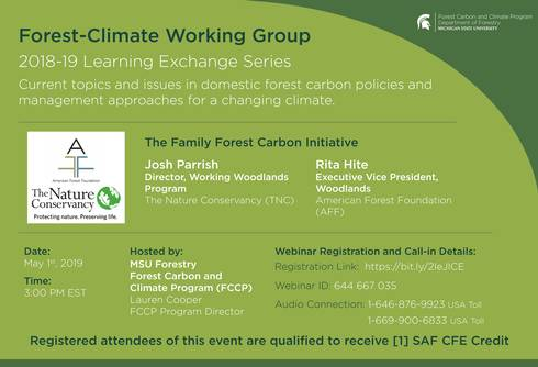 Image of forest- climate working group flyer.
