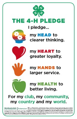 Eloquent image inside 4-h pledge printable