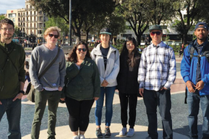 Landscape architecture students in Barcelona, Spain.