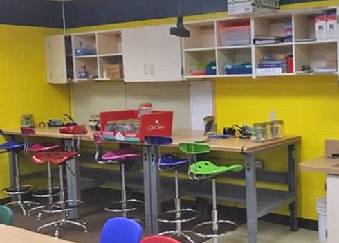 Makerspace work benches