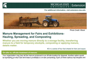 Manure Management for Fairs and Exhibitions-  Hauling, Spreading, and Composting