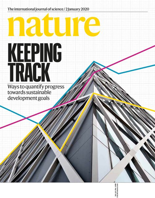 Cover of Nature Magazine, Jan 1, 2020