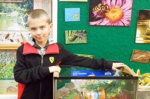 Brad Seyffert donated an aquarium filled with supplies to the Bug House.