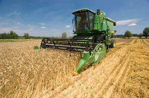 Wheat harvest at W.K. Kellogg Biological Station, Michigan State University