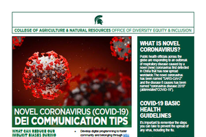 Novel Coronavirus (COVID-19) DEI Communication Tips