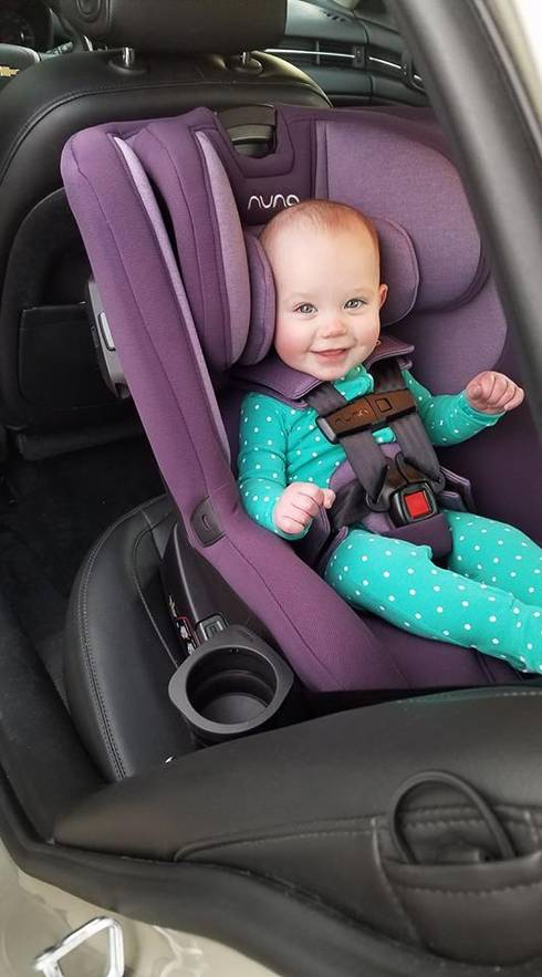 Rear-facing child restraints include infant only car seats and convertible car seats. Photo by Becca Peterson.