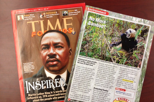 Time Magazine -- for Kids -- shows panda love