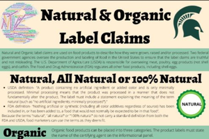 Natural and Organic Label Claims