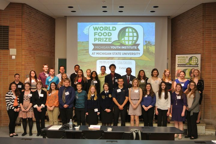 2016 World Food Prize Michigan Youth Institute participants. Photo: Makena Schultz, MSU Extension.