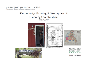 Planning and Zoning*A*Syst. #3: Community Planning & Zoning Audit, Planning Coordination (E3053)