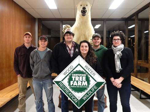 MSU Forestry Club students participate in the 2017 American Tree Farm System certification training.