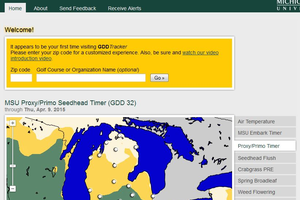 GDDTracker.net is a great website for predicting pest outbreaks and scheduling applications to turfgrass.