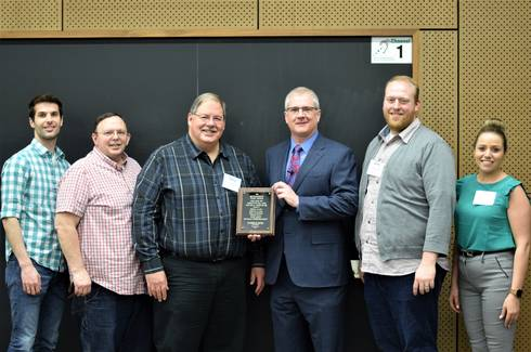 The MSU Dairy Foods Complex Team received the 2019 Outstanding Team Award from CANR Dean Ron Hendrick.