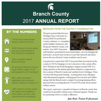 Branch County Annual Report Cover 2017-18