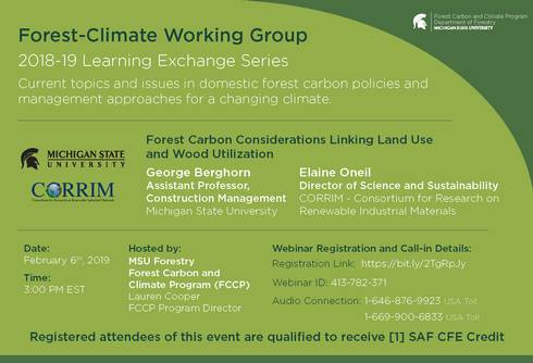 Preview of announcement for George Berghorn and Elaine Oneil's session of the 2018-19 FCWG Learning Exchange Series.