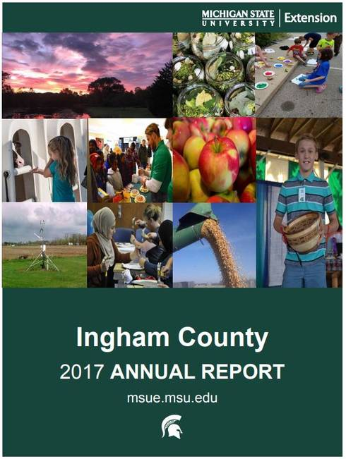 Ingham County Annual Report 2017-18 cover.