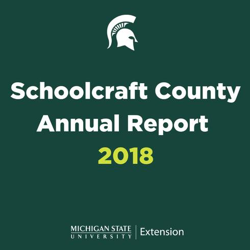 Schoolcraft County Annual Report graphic