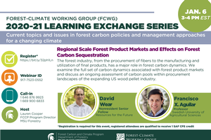 FCWG 2020-21 Learning Exchange Series Session: Regional Scale Forest Product Markets and Effects on Forest Carbon Sequestration