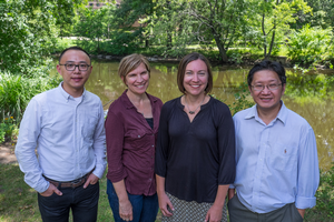 Team of MSU researchers, including Pat Soranno (second from left)