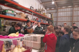 Teen leaders teaching youth about agriculture
