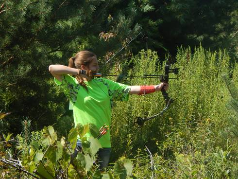 A Michigan 4-H Shooting Sports archery participant.